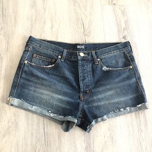 DBG TomGirl Distressed High Rise Jeans Shorts